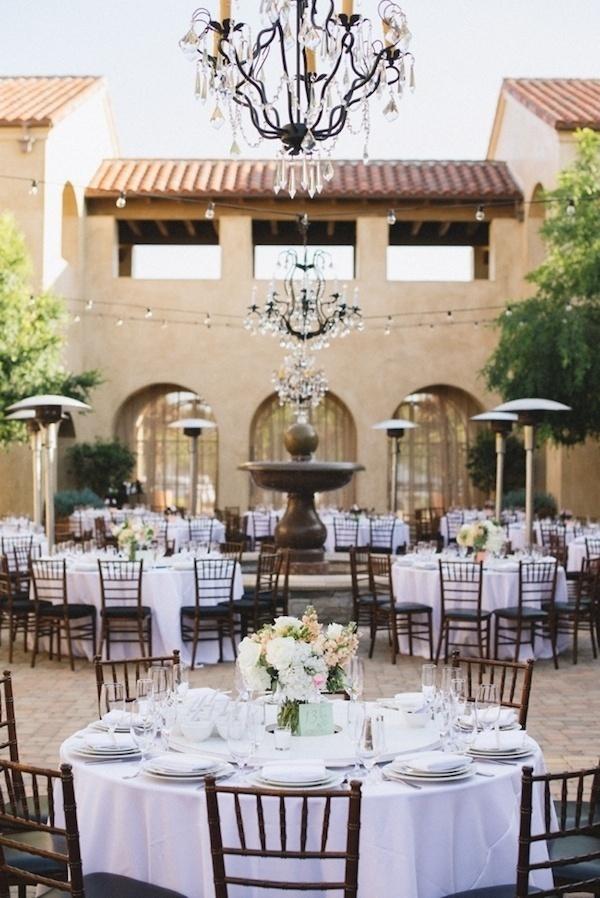 Elegant wedding reception seating.