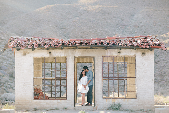 Veena and Sahil's romantic desert engagement in Palm Springs