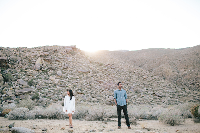 Boho desert engagement photos