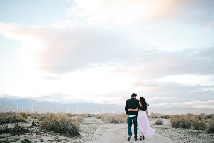 Gorgeous desert engagement photos