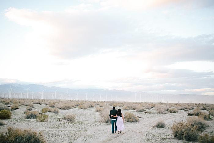 Beautiful desert engagement