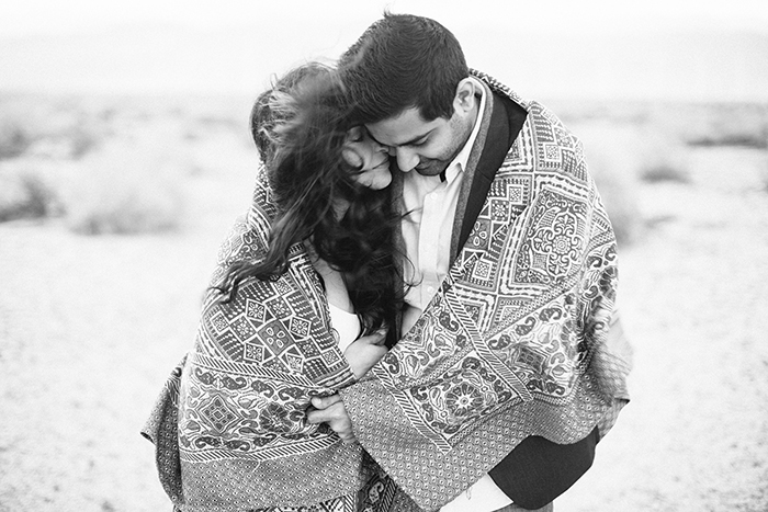 romantic desert engagement photos in palm springs