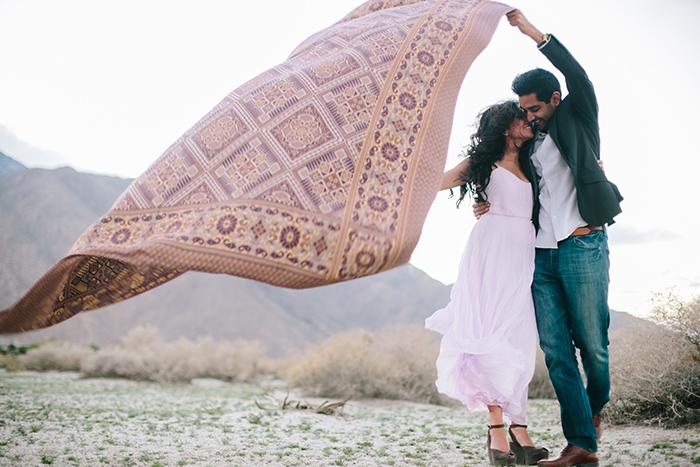 Gorgeous boho engagement shoot in the desert