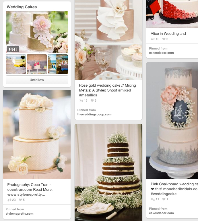 Awesome wedding cake board on pinterest