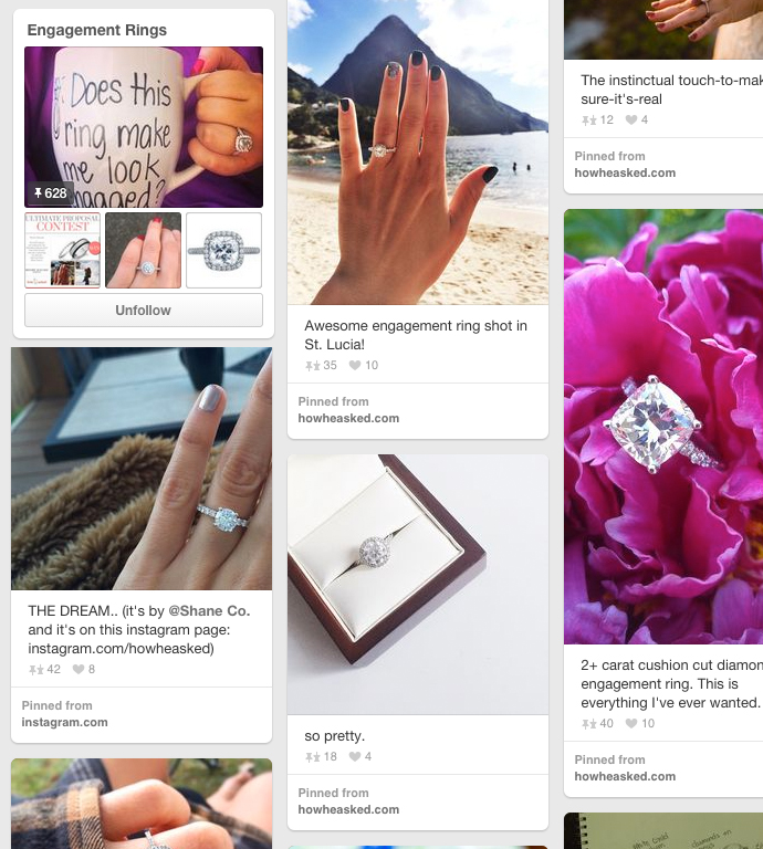 Awesome wedding ring board on pinterest