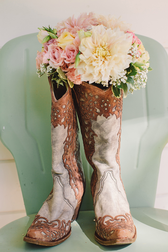 Cowboy boots for the wedding day