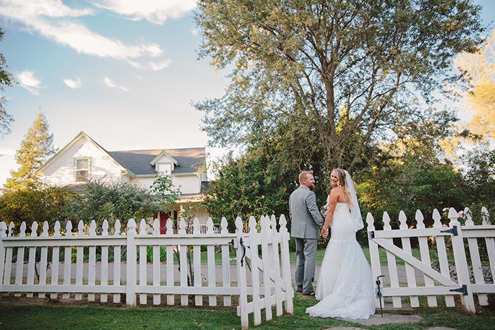 Romantic bride and groom portrait!