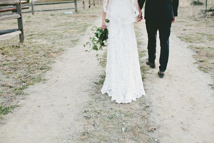 Beautiful classic white lace wedding dress