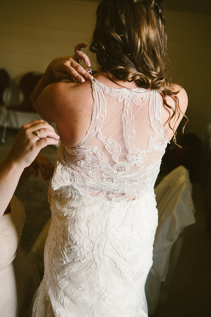 Stunning and unique lace wedding dress back