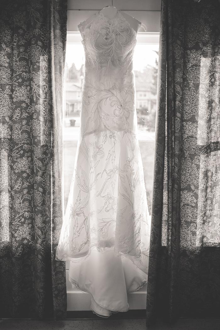 Stunning unique floral lace wedding dress