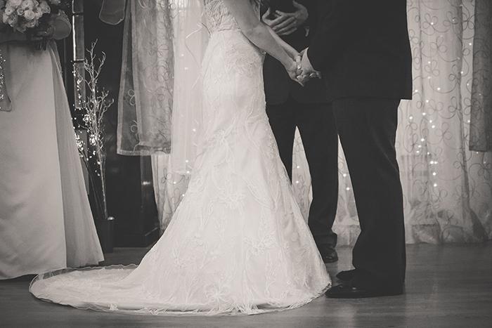 Rustic wedding ceremony photo