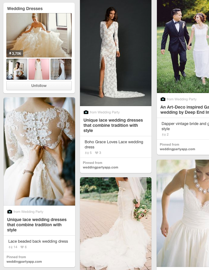 Awesome wedding dress pinterest board