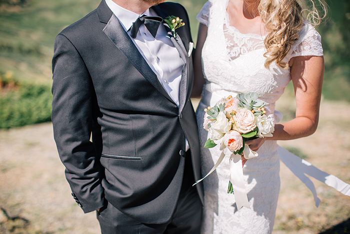Beautiful elopement wedding day