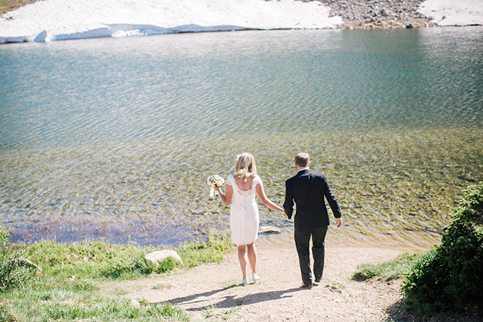 Wedding elopement by the lake