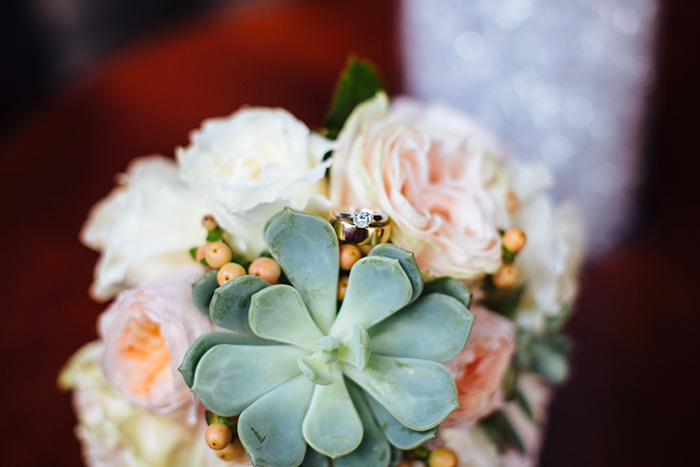 Wedding bouquet with succulents