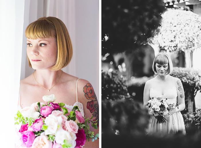 Gorgeous tattooed bride