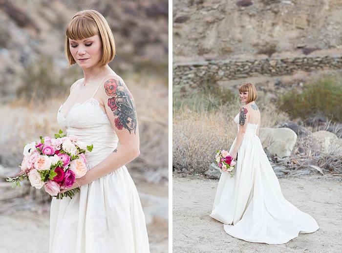 Tattooed bride on her wedding day. Love!
