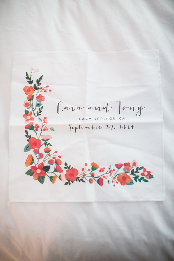 Handkerchief wedding favor — so pretty!