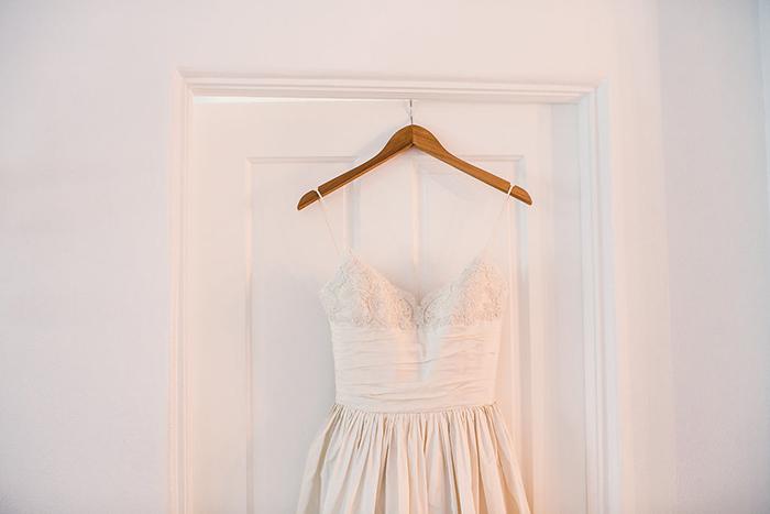 Strappy lace wedding dress