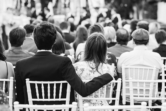 Sweet photo of guests at the wedding ceremony