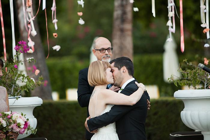The wedding kiss!