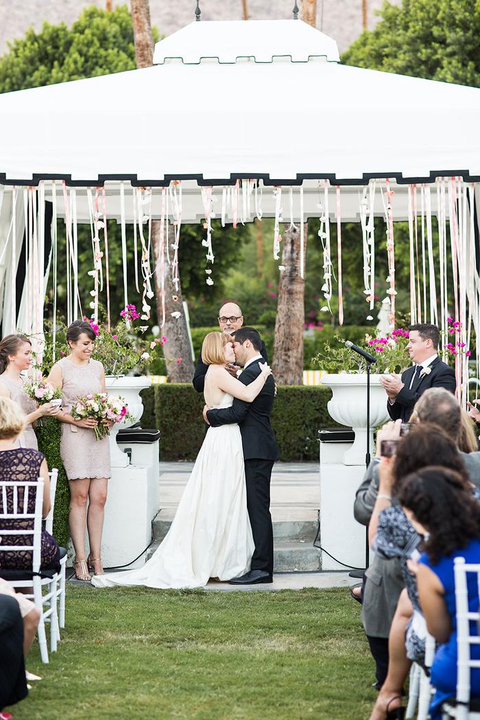 The wedding ceremony kiss!