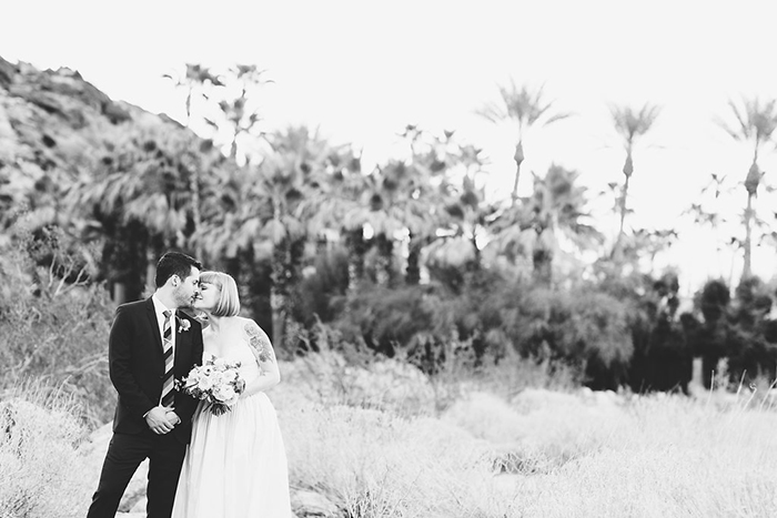 Simple and sweet Palm Springs wedding photo