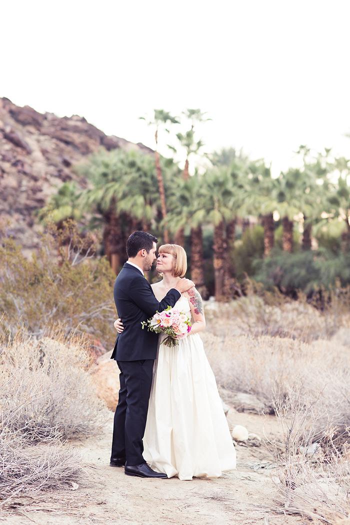 Stunning palm springs wedding day photo