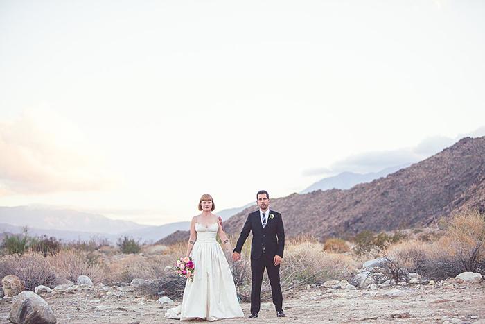 Gorgeous wedding photo in the desert