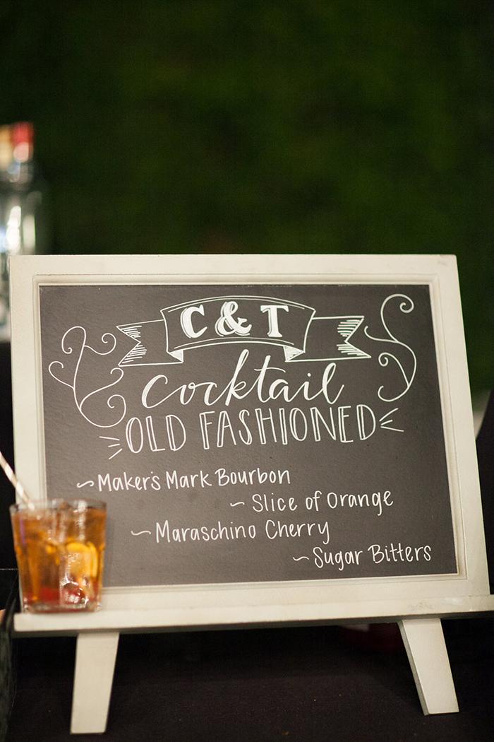 Wedding cocktail bar sign