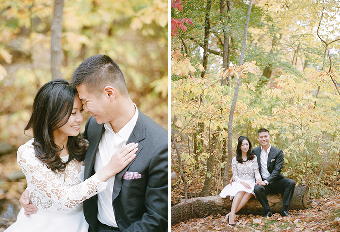 Stunning fall engagement photos.