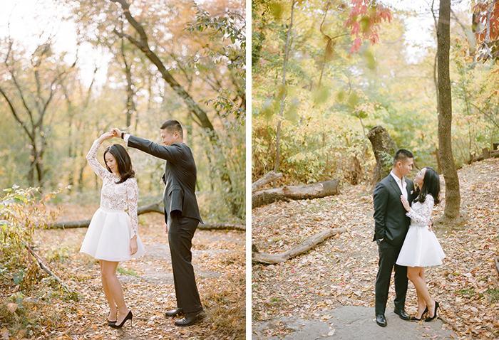 Stunning fall engagement photos