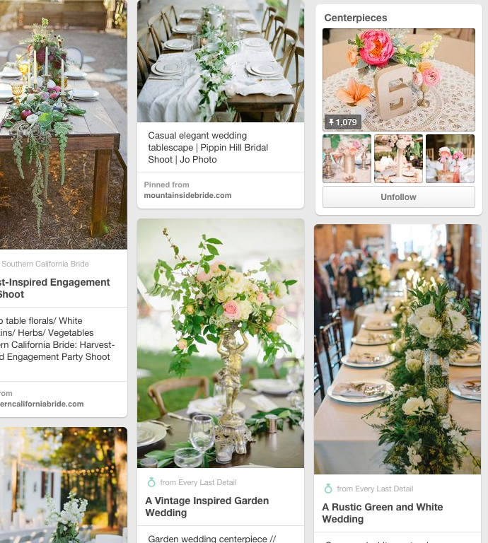 Awesome wedding centerpiece pinterest board