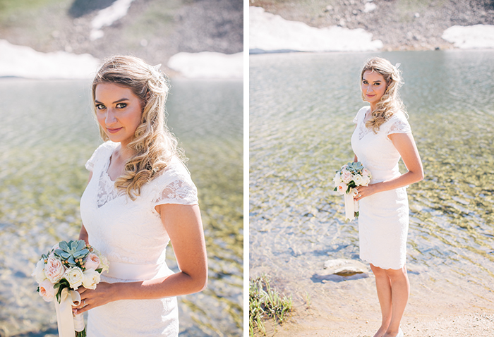 Bridal elopement wedding dress style