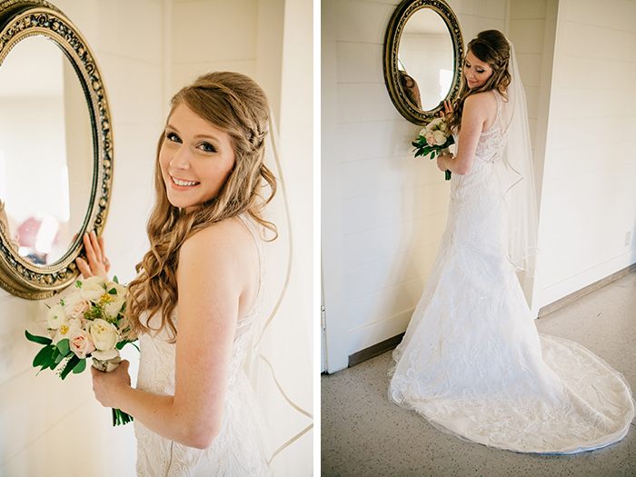 Gorgeous bridal beauty look for this bride