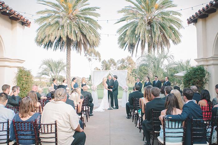 Lovely outdoor California garden wedding