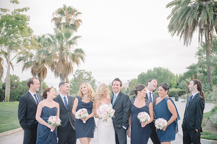 Sweet candid bridal party photo