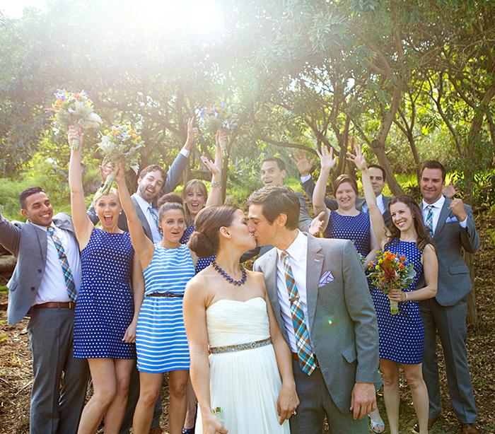 Adorable and fun bridal party photo!
