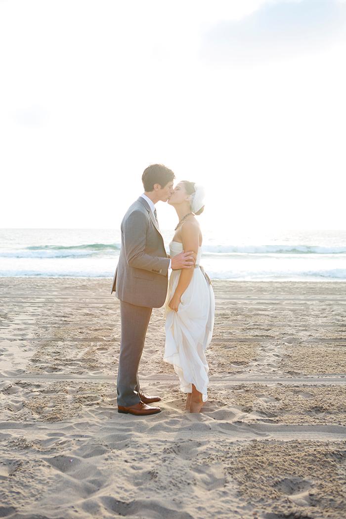 Gorgeous romantic beach wedding photo