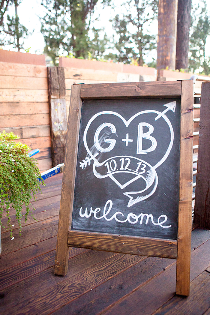 Simple and pretty wedding chalkboard signage