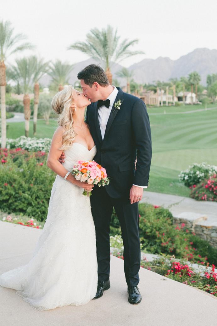 Post ceremony wedding kiss photo!