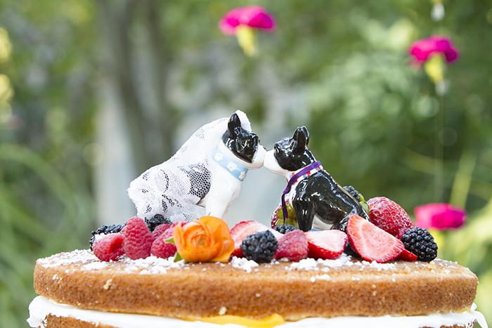 Gorgeous wedding cake with fruit