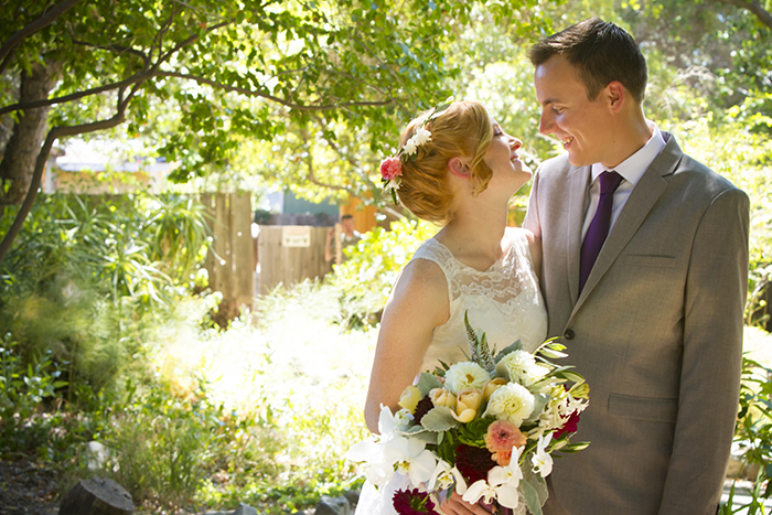 Gorgeous summer wedding bride and groom photo