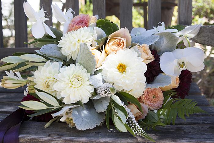 Stunning summer wedding flower bouquet