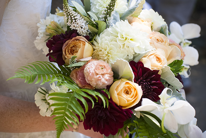 Lovely wild summer wedding bouquet