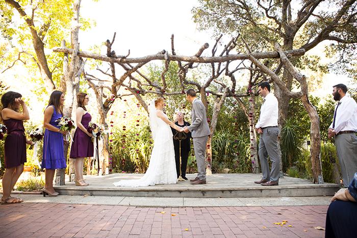 Gorgeous wedding ceremony flower backdrop