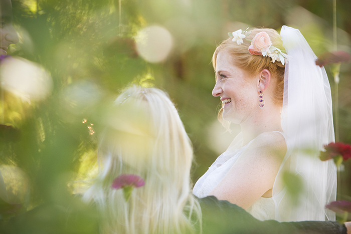 Bride wedding photo at the ceremony