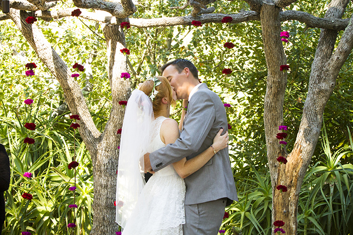 Lovely flower backdrop for a ceremony