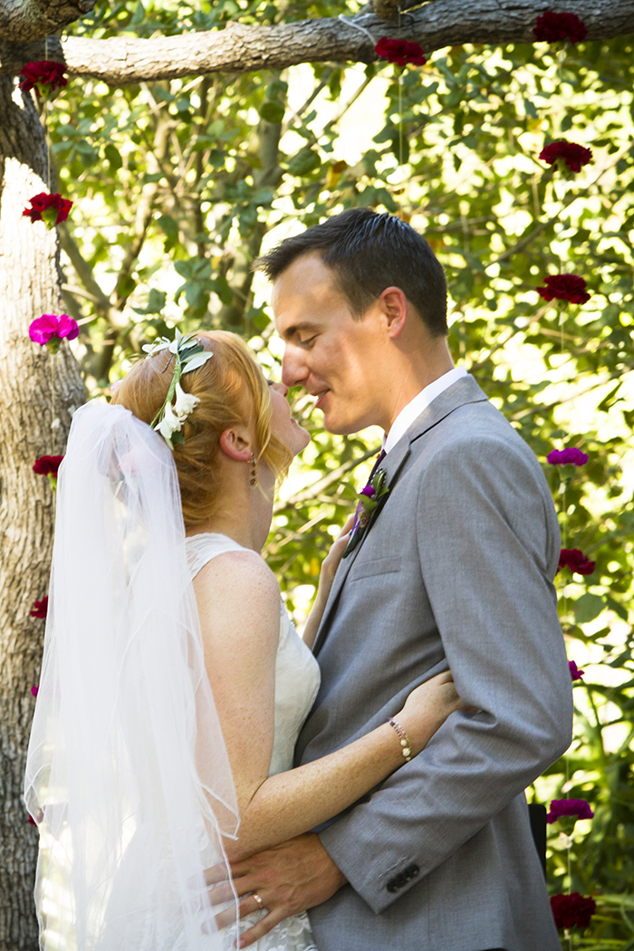 Lovely candid bride and groom ceremony photo
