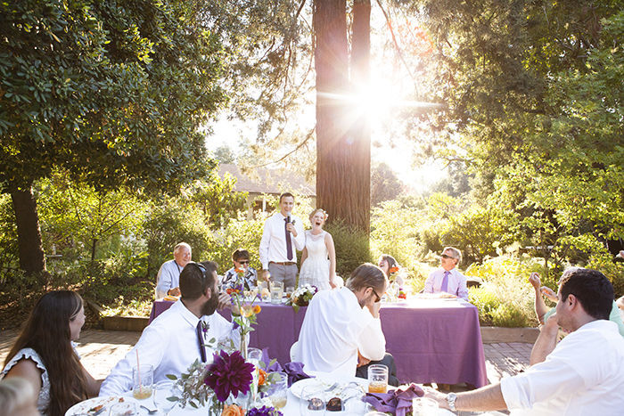 Simple summery outdoor wedding ceremony